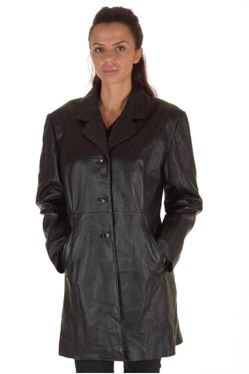 Модерен дамски кожен шлифер 69.00