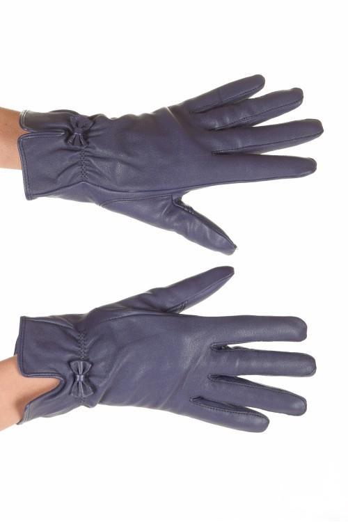 Чудесни лилави дамски кожени ръкавици 18.00