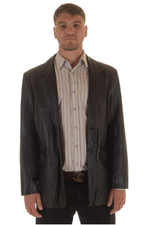 Мъжко дълго кожено сако 72.00
