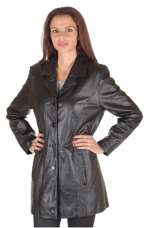Дамски шлифер от нежна и мека естествена кожа 67.00