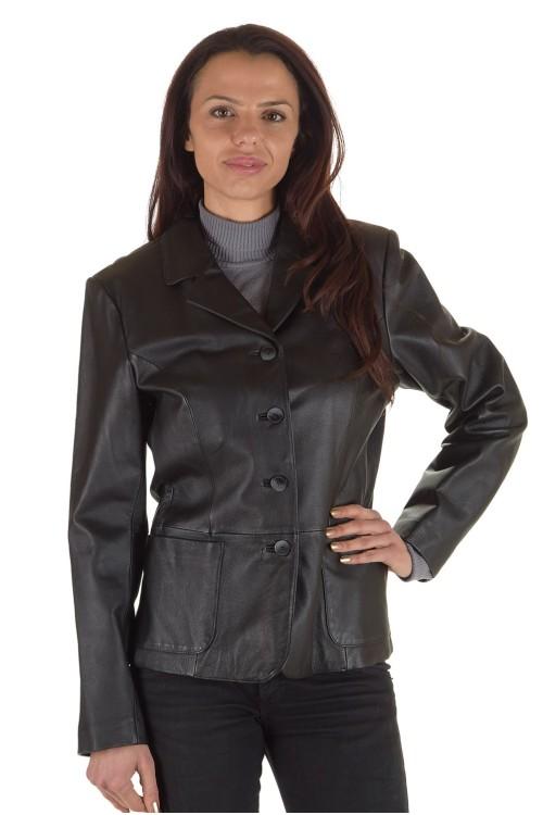 Първокласно дамско кожено сако 65.00