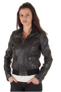 Дамско яке от изкуствена кожа
