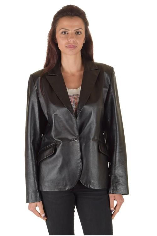 Класическо дамско кожено сако 64.00