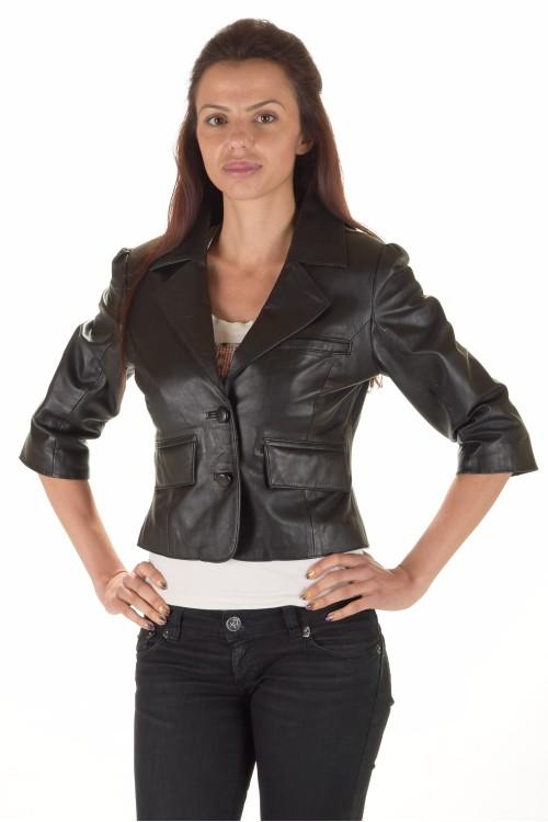Страхотно дамско кожено сако 65.00