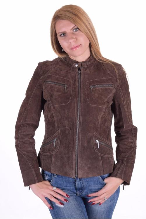Дамско велурено яке от естествена кожа 39.00