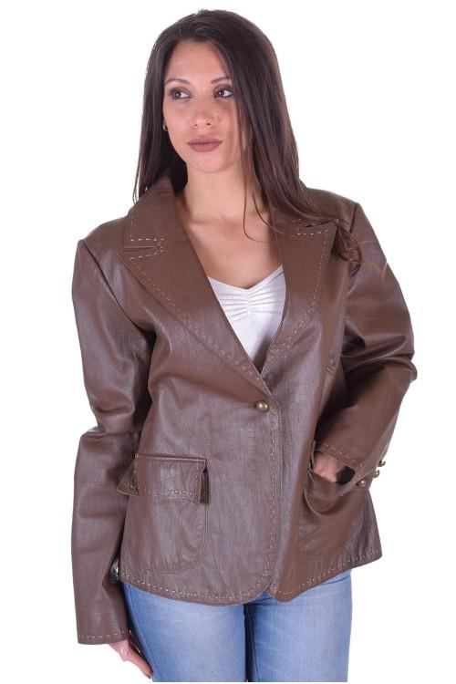 Красиво дамско кожено сако 64.00