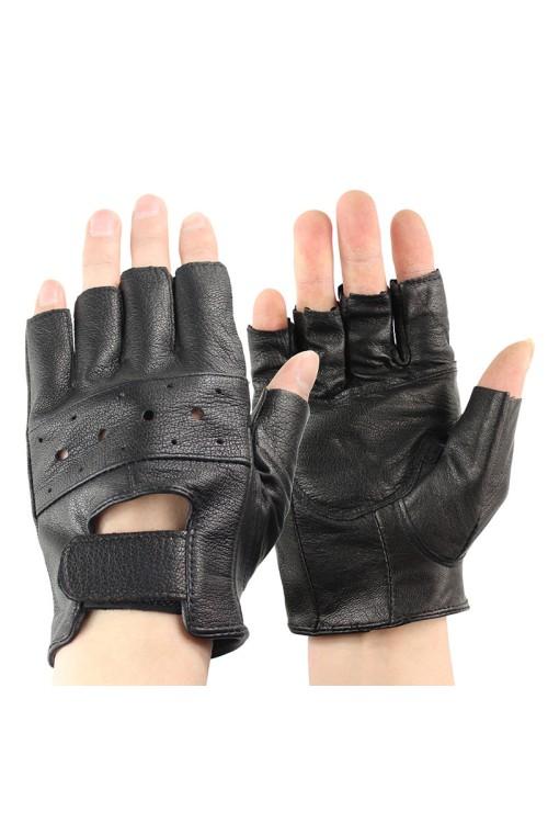 Мъжки фитнес ръкавици от естествена кожа 20.00