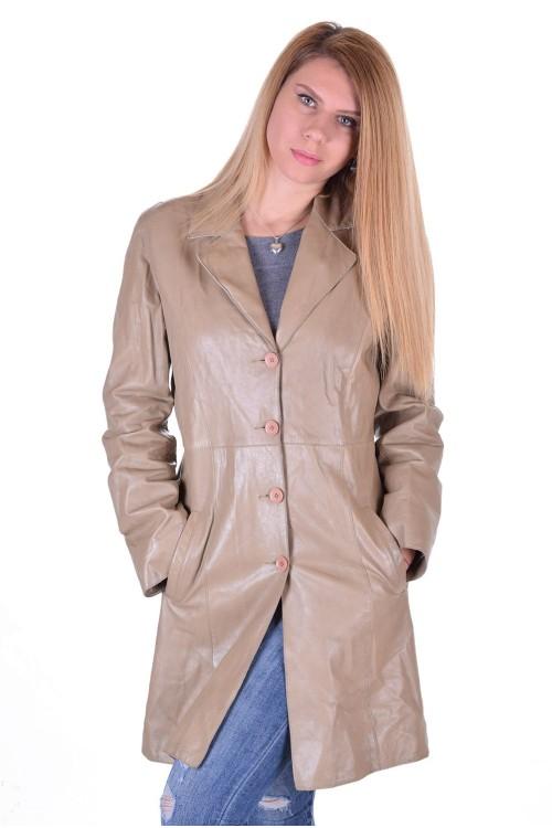 Елегантен дамски кожен шлифер 15.00