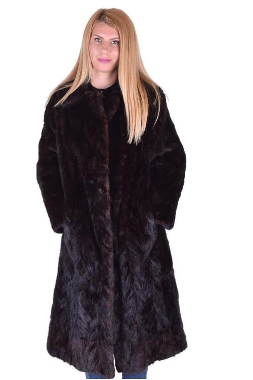 Тъмно кафяво дамско палто от норка 219.00