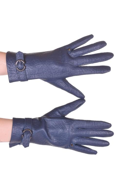Тъмно сини ръкавици от изкуствена кожа 5.00