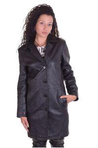 Дамско дълго яке от естествена кожа