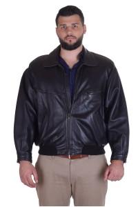 Чудесно черно яке от естествена кожа