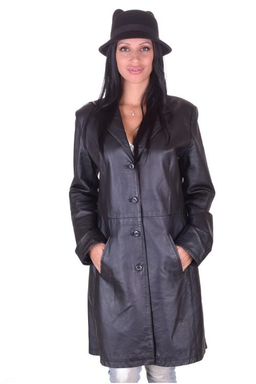 Класически дамски кожен шлифер 49.00