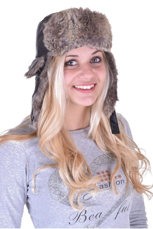 Дамска шапка от естествена кожа 5.00