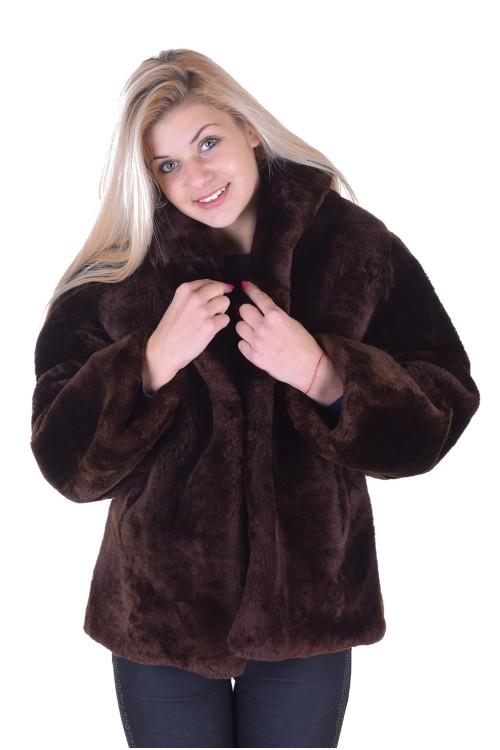 Отлично дамско палто от естествен косъм 79.00