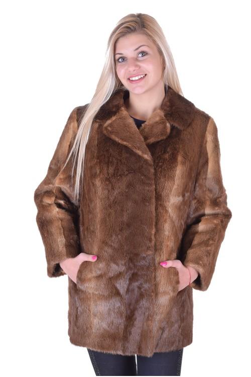 Палто от естествен косъм 29.00