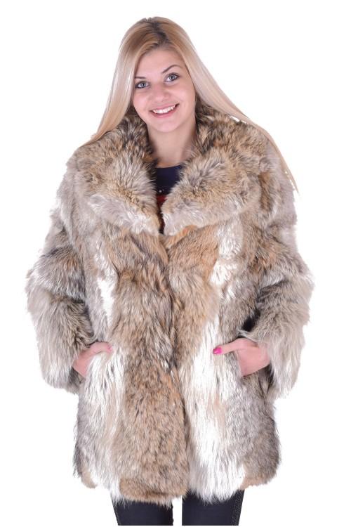 Палто от естествен косъм 89.00