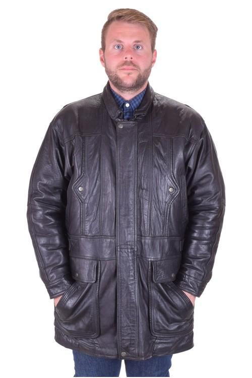 Черно яке от естествена кожа 29.00