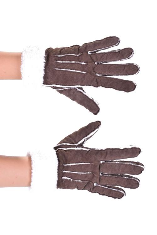 Дамски ръкавици от велурена кожа 15.00
