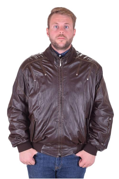 Тъмно кафяво яке от агнешка кожа 95.00