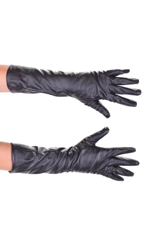 Кокетни дълги ръкавици от изкуствена кожа 10.00