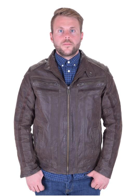 Стройно мъжко яке от дебела телешка кожа 45.00