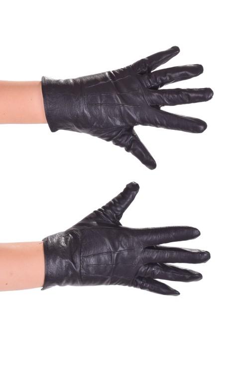 Черни дамски ръкавици от мека кожа 14.00