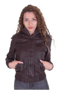 Спортно дамско яке от естествена кожа