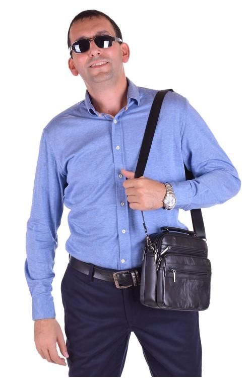 Стилна мъжка чанта от естествена кожа 65.00