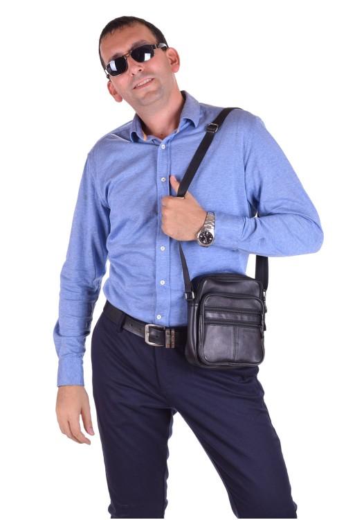 Представителна мъжка чанта от естествена кожа 22.00