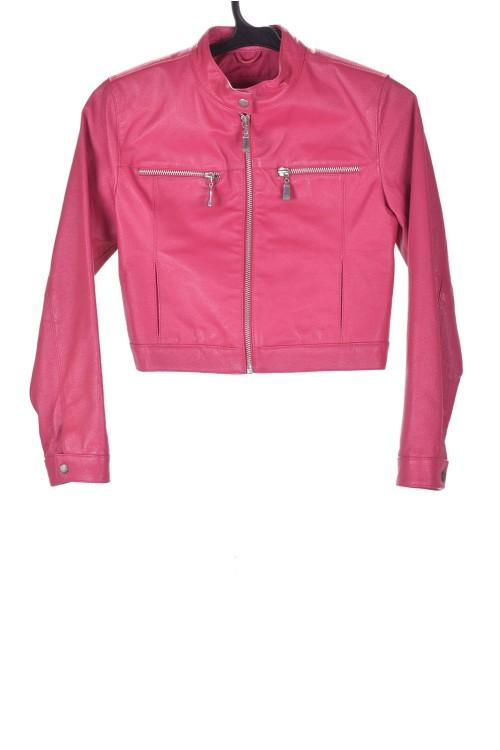 Красиво розово детско яке от естествена кожа 49.00