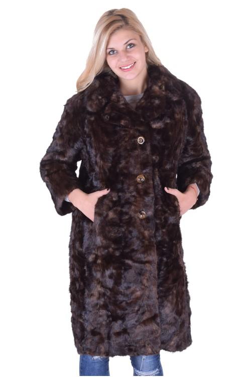 Тъмно кафяво дамско палто от норка 229.00