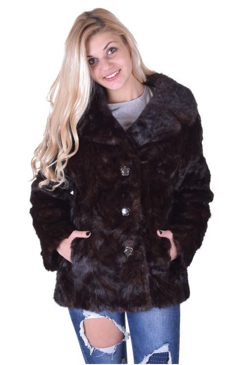Тъмно кафяво палто от норка 285.00