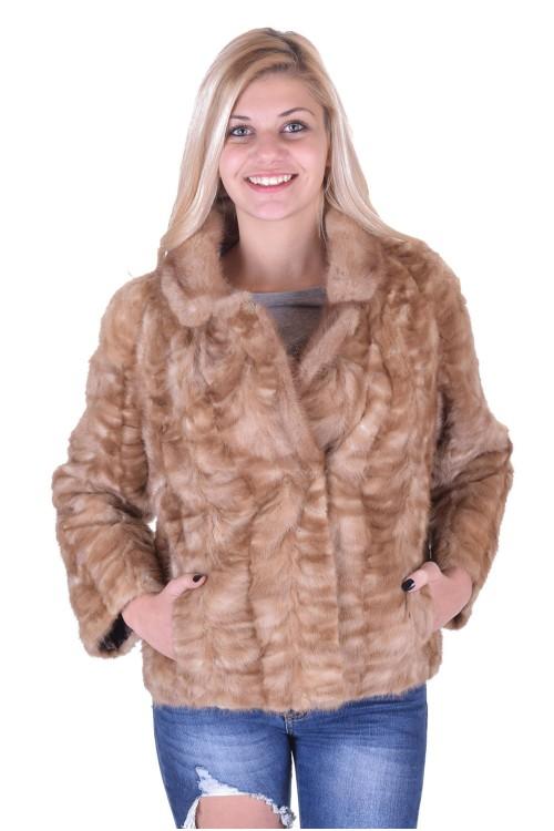 Бежово дамско палто от норка 159.00