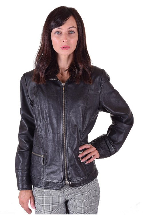 Класическо дамско яке от естествена кожа 64.00