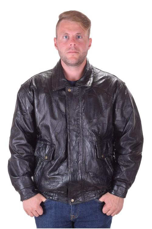 Черно кожено яке от естествена кожа 69.00