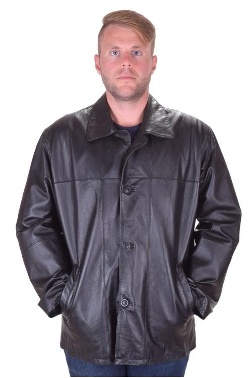 Черно кожено яке от естествена кожа 85.00