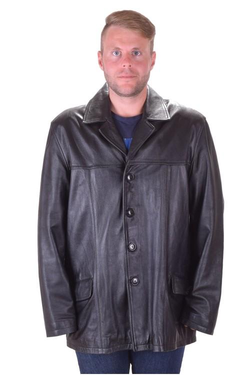 Стилно черно кожено яке от естествена кожа 79.00