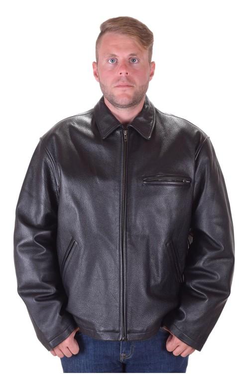 Луксозно черно кожено яке 95.00