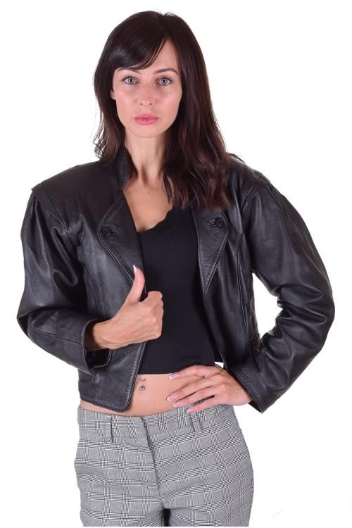 Екстравагантно дамско яке от естествена кожа 64.00