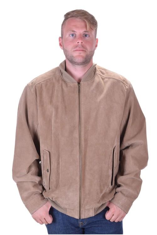 Бежово мъжко велурено яке от естествена кожа 49.00