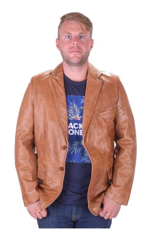 Елегантно мъжко кожено сако от естествена кожа 69.00