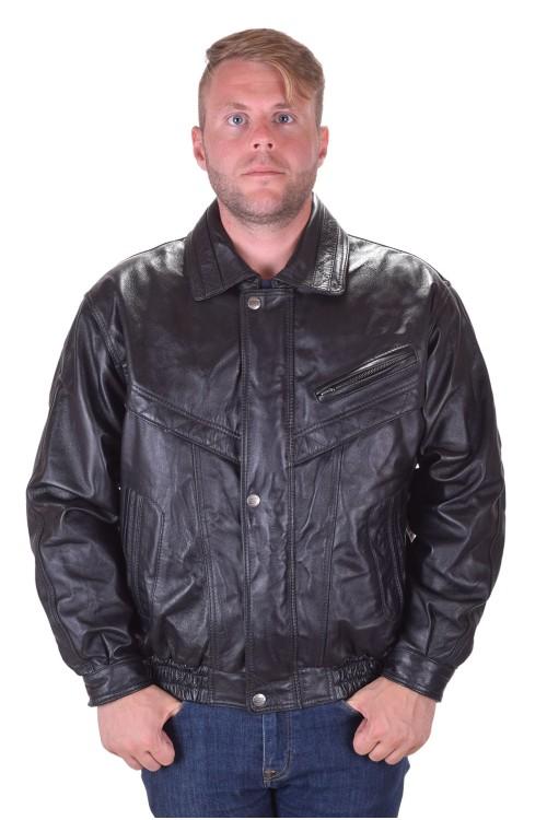 Брандово черно кожено яке от естествена кожа 99.00