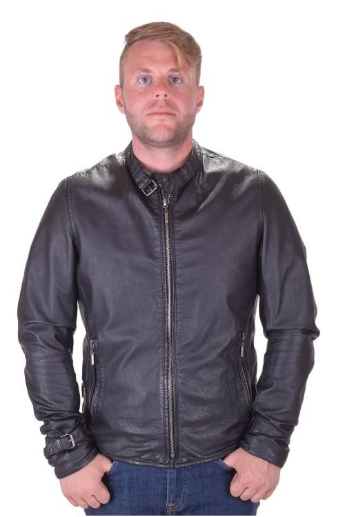 Черно мъжко кожено яке от естествена кожа 69.00