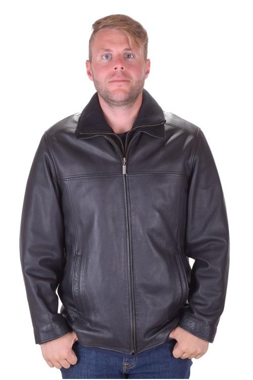Превъзходно черно кожено яке от естествена кожа 79.00
