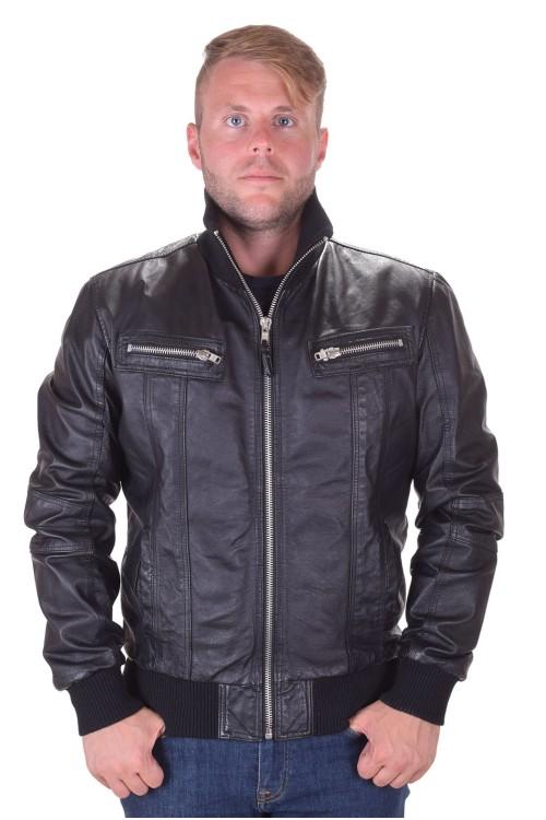 Модерно мъжко яке от естествена кожа 85.00