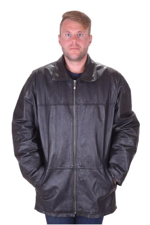 Черно кожено яке от естествена кожа 49.00