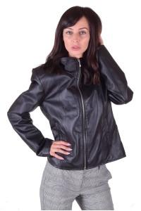 Елегантно дамско яке от естествена кожа