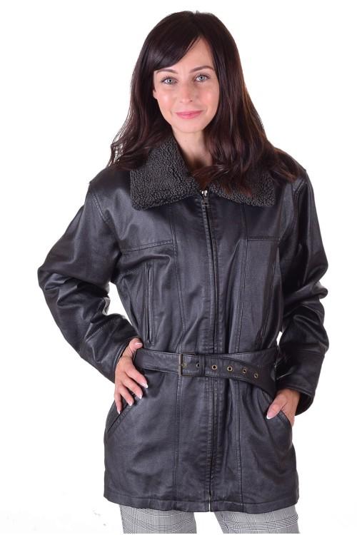 Дамско дълго яке от естествена кожа 75.00