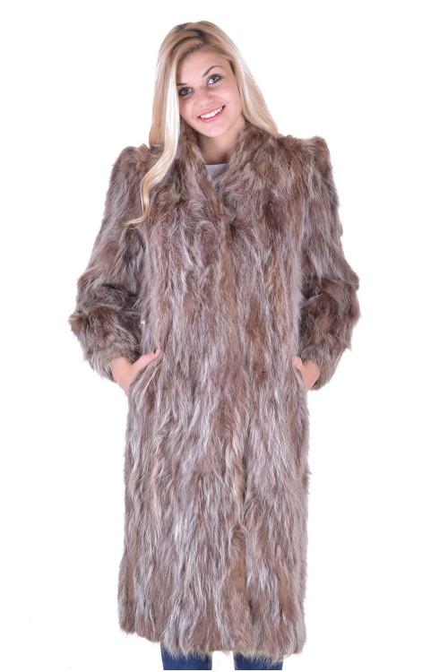 Дамско дълго палто от естествен косъм 69.00